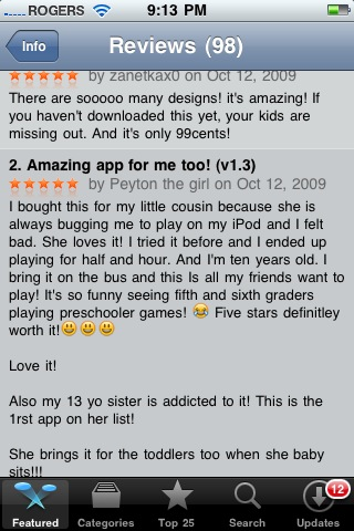 Babysitter iPhone App