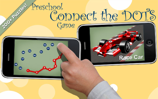 Preschool Connect the Dots Game to Learn Numbers and the Alphabet
