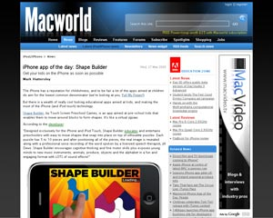 Screenshot - MacWorld iPhone App of the Day